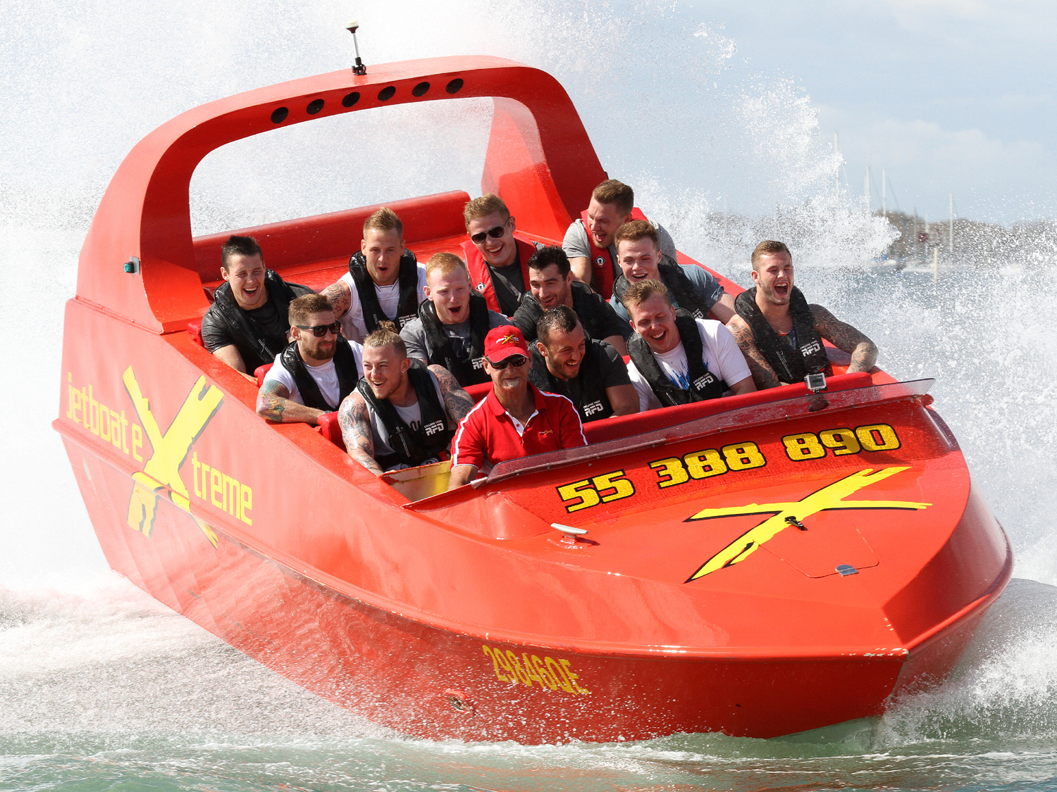 Fun Day for the English Team with Jet Boat Extreme