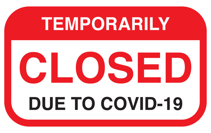 Temporarily closed notice